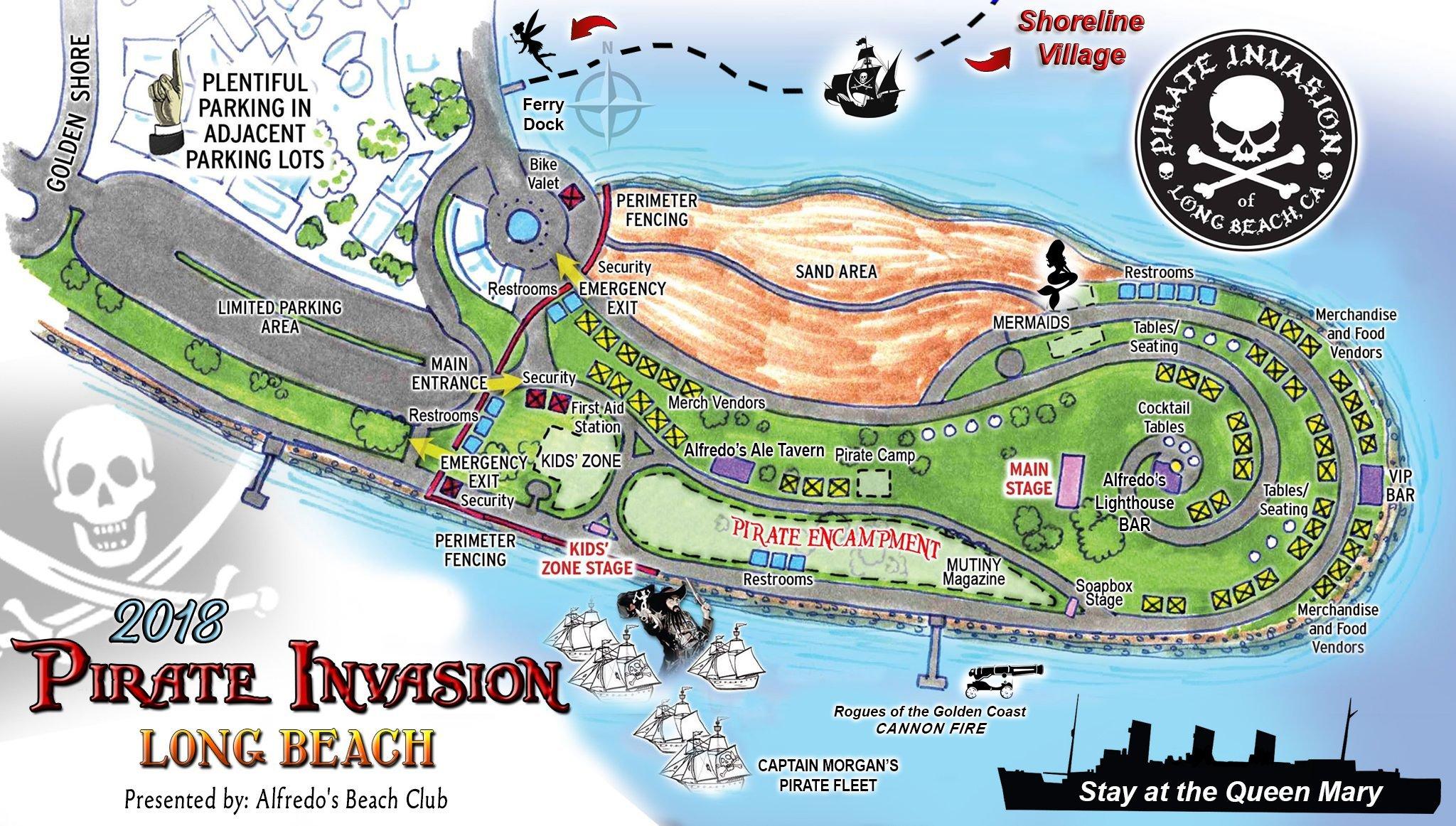 Pirate Invasion Long Beach Map