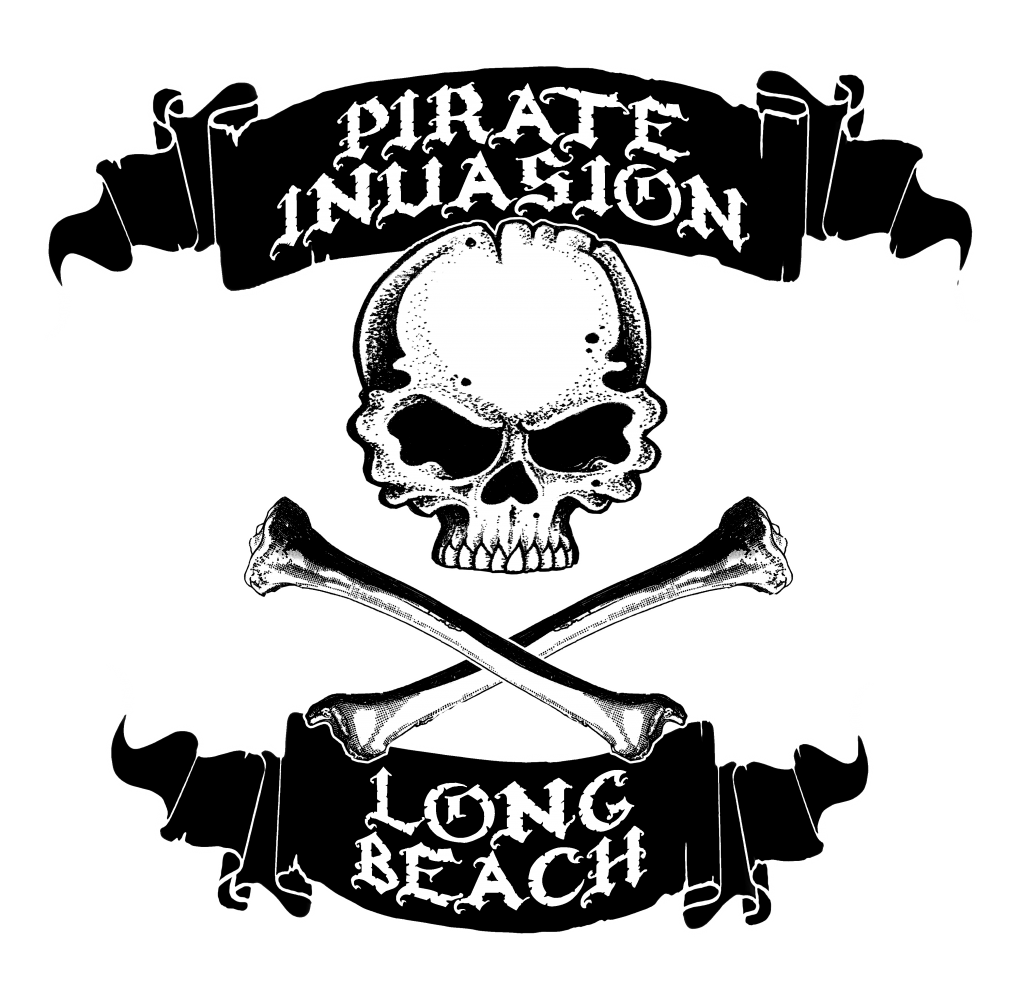Pirate Invasion Long Beach t shirt